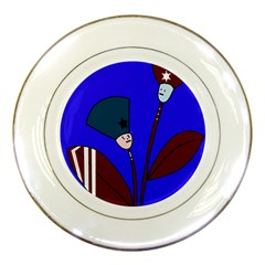 Soldier Flowers  Porcelain Plates by Valentinaart