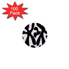 Black And White Dance 1  Mini Buttons (100 Pack)  by Valentinaart