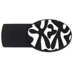 Black And White Dance Usb Flash Drive Oval (2 Gb)  by Valentinaart