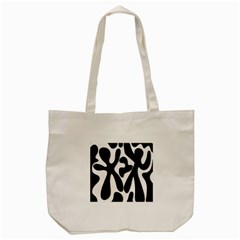 Black And White Dance Tote Bag (cream) by Valentinaart