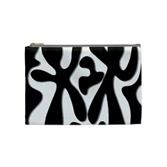 Black and white dance Cosmetic Bag (Medium)