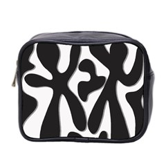 Black and white dance Mini Toiletries Bag 2-Side by Valentinaart