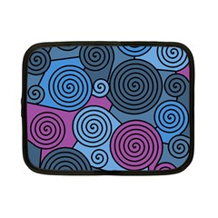 Blue Hypnoses Netbook Case (small)  by Valentinaart