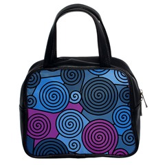 Blue Hypnoses Classic Handbags (2 Sides) by Valentinaart
