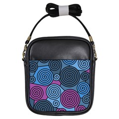 Blue Hypnoses Girls Sling Bags by Valentinaart