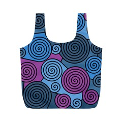 Blue Hypnoses Full Print Recycle Bags (m)  by Valentinaart