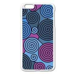 Blue Hypnoses Apple Iphone 6 Plus/6s Plus Enamel White Case by Valentinaart