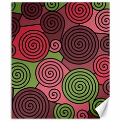 Red And Green Hypnoses Canvas 8  X 10  by Valentinaart