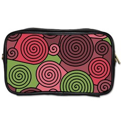Red And Green Hypnoses Toiletries Bags 2 Side by Valentinaart
