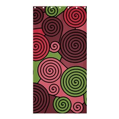 Red And Green Hypnoses Shower Curtain 36  X 72  (stall)  by Valentinaart