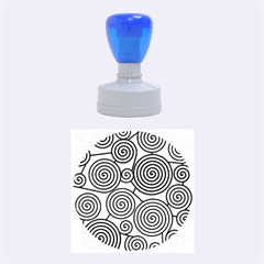 Red and green hypnoses Rubber Round Stamps (Medium) by Valentinaart