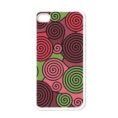 Red And Green Hypnoses Apple Iphone 4 Case (white) by Valentinaart