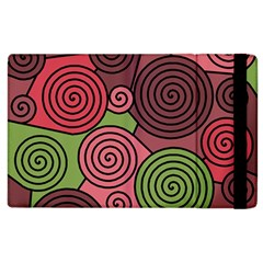 Red And Green Hypnoses Apple Ipad 3/4 Flip Case by Valentinaart
