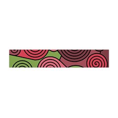 Red And Green Hypnoses Flano Scarf (mini) by Valentinaart