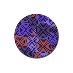 Blue And Red Hypnoses  Magnet 3  (round) by Valentinaart