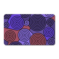 Blue And Red Hypnoses  Magnet (rectangular) by Valentinaart