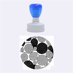 Blue And Red Hypnoses  Rubber Round Stamps (medium) by Valentinaart