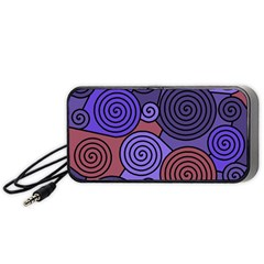 Blue and red hypnoses  Portable Speaker (Black)