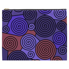 Blue And Red Hypnoses  Cosmetic Bag (xxxl)  by Valentinaart