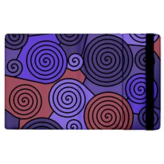 Blue And Red Hypnoses  Apple Ipad 2 Flip Case by Valentinaart