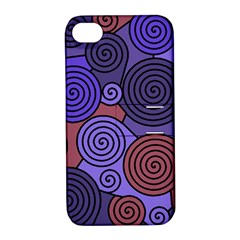 Blue And Red Hypnoses  Apple Iphone 4/4s Hardshell Case With Stand by Valentinaart