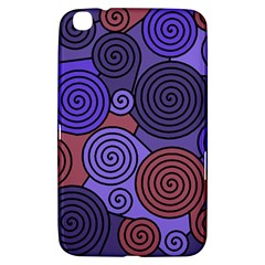Blue And Red Hypnoses  Samsung Galaxy Tab 3 (8 ) T3100 Hardshell Case  by Valentinaart