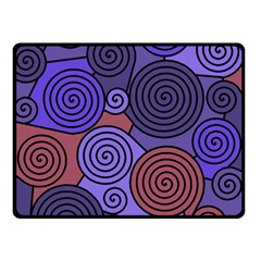 Blue And Red Hypnoses  Double Sided Fleece Blanket (small)  by Valentinaart