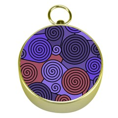 Blue And Red Hypnoses  Gold Compasses by Valentinaart