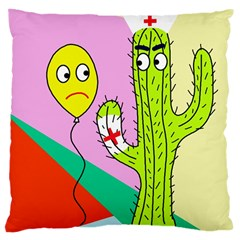 Health Insurance  Large Cushion Case (two Sides) by Valentinaart