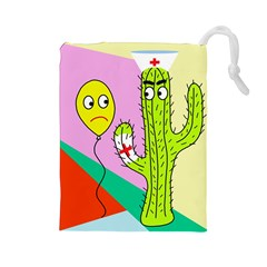 Health Insurance  Drawstring Pouches (large)  by Valentinaart