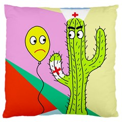 Health Insurance  Large Flano Cushion Case (two Sides) by Valentinaart