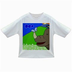 Butterfly And Rhino Infant/toddler T Shirts by Valentinaart