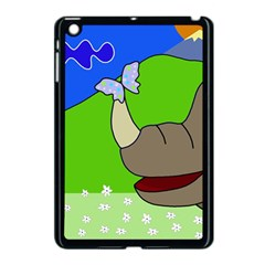 Butterfly And Rhino Apple Ipad Mini Case (black) by Valentinaart