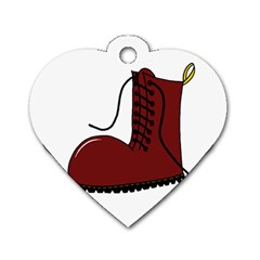 Boot Dog Tag Heart (One Side)