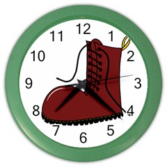 Boot Color Wall Clocks by Valentinaart