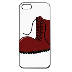 Boot Apple Iphone 5 Seamless Case (black) by Valentinaart