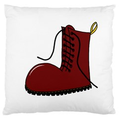 Boot Large Flano Cushion Case (one Side) by Valentinaart