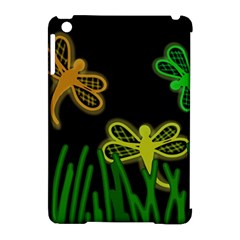 Neon Dragonflies Apple Ipad Mini Hardshell Case (compatible With Smart Cover) by Valentinaart