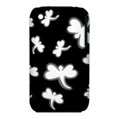 White Dragonflies Apple Iphone 3g/3gs Hardshell Case (pc+silicone) by Valentinaart