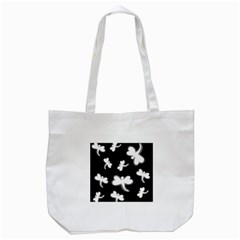 White Dragonflies Tote Bag (white) by Valentinaart