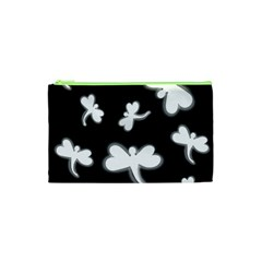 White Dragonflies Cosmetic Bag (xs) by Valentinaart