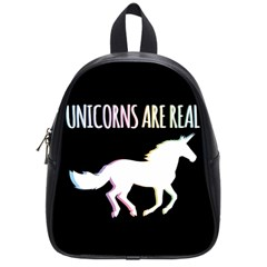 Unicorns are Real School Bags (Small)  by TanyaDraws