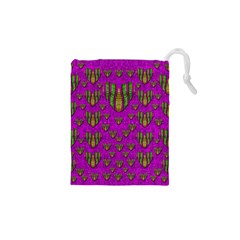 Love In Colors And Heart In Rainbows Drawstring Pouches (xs)  by pepitasart