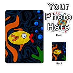 Yellow Fish Multi Purpose Cards (rectangle)  by Valentinaart