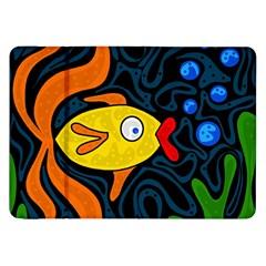 Yellow Fish Samsung Galaxy Tab 8 9  P7300 Flip Case by Valentinaart