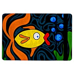 Yellow Fish Ipad Air Flip by Valentinaart
