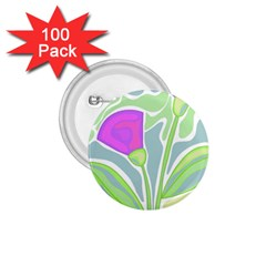 Purple Flowers 1 75  Buttons (100 Pack)  by Valentinaart