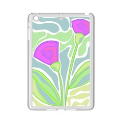 Purple Flowers Ipad Mini 2 Enamel Coated Cases
