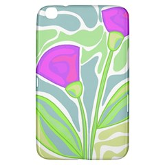 Purple Flowers Samsung Galaxy Tab 3 (8 ) T3100 Hardshell Case  by Valentinaart