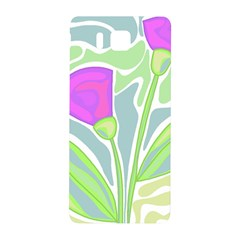 Purple Flowers Samsung Galaxy Alpha Hardshell Back Case by Valentinaart